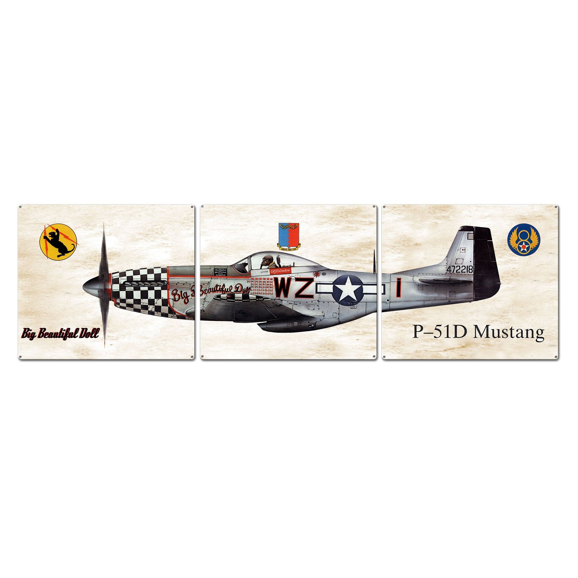 Hand Made in the USA with American Steel P-40 Warhawk Plasma Metal Sign